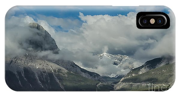 Clouds And Mist Over Canadian Rocky Mountain Peaks IPhone Case