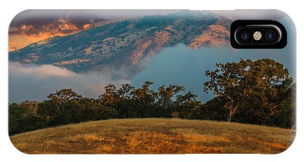 Clouds Fog And Mt Diablo IPhone Case