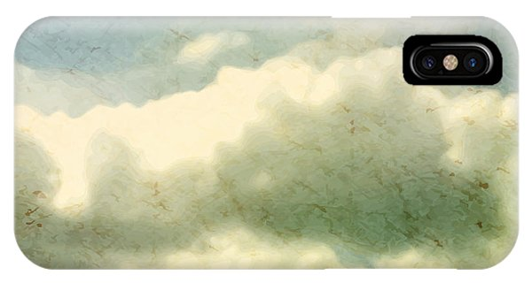 Space iPhone Case - Clouds. Grungy Vector Illustration by Vik Y