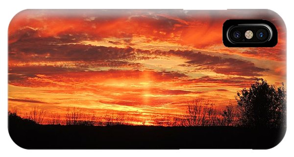 iPhone Case - Clouds Of Fire by Red Cross