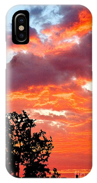 IPhone Case featuring the photograph Clouds On Fire by Mae Wertz