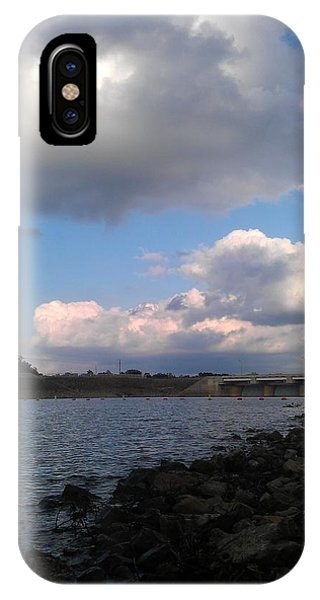 Clouds On Water Phone Case by Kim Martin