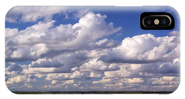 Clouds Over Cheyenne Bottoms IPhone Case