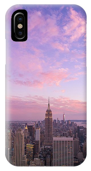 clouds over Empire State IPhone Case