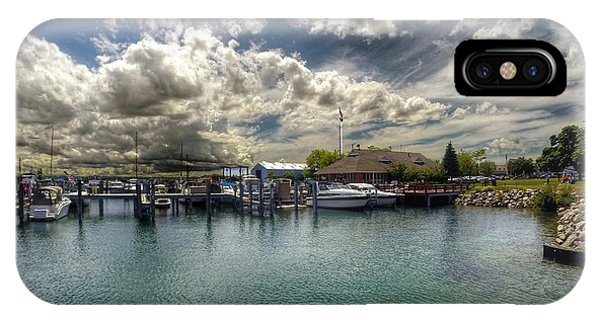 Clouds Over The Marina IPhone Case