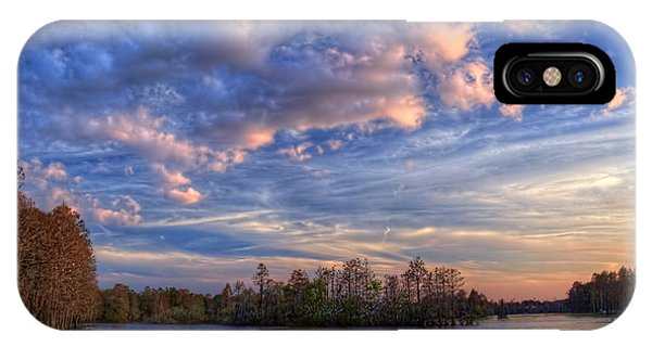 Cypress iPhone Case - Clouds Over The River by Marvin Spates