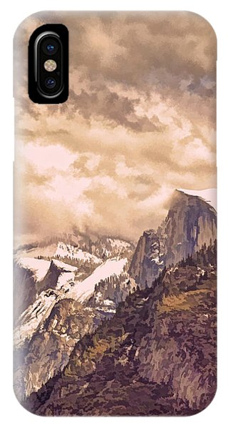 Granite iPhone Case - Clouds Over The Valley by Bill Gallagher