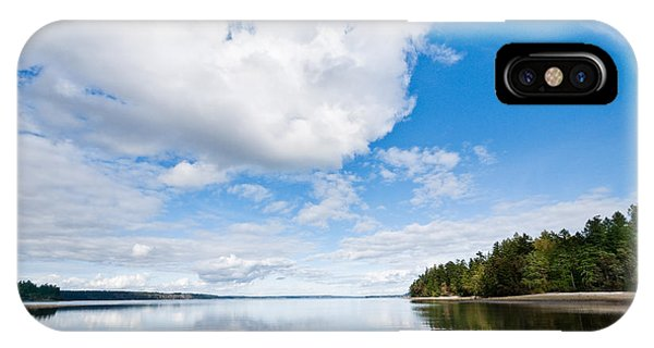 Clouds Reflected In Puget Sound IPhone Case
