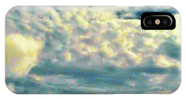 Clouds With Yellow Flecks - Square IPhone Case