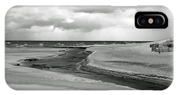 Cloudy Beach IPhone Case