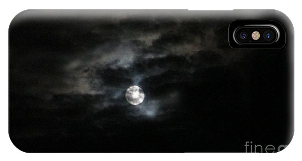 Night Time Cloudy Dark Moon IPhone Case
