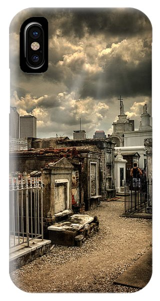 Cloudy Day At St. Louis Cemetery IPhone Case