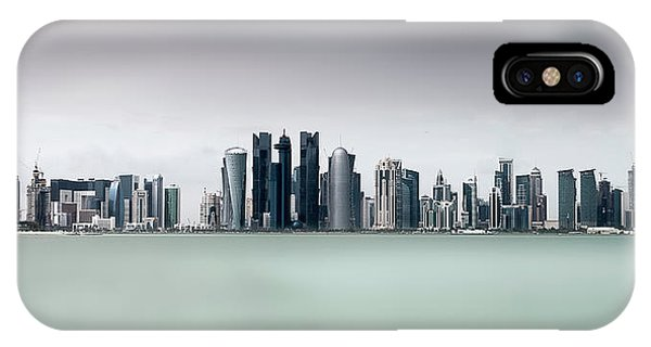 Metropolis iPhone Case - Cloudy Doha .. by Ahmed Lashin