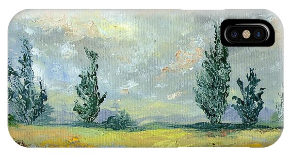 Cloudy Landscape Before The Rain IPhone Case