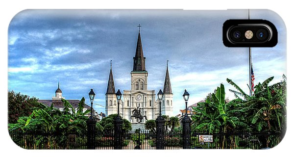 Cloudy Morning At  St. Louis Cathedral IPhone Case