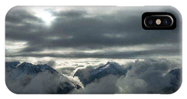 Treeline iPhone Case - Cloudy Range by Ryan McGinnis