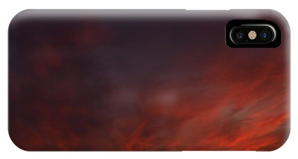 Cloudy Red Sunset IPhone Case