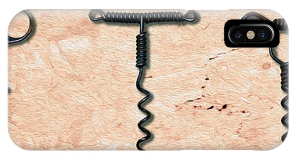 Bar iPhone Case - Clough Single Wire Corkscrews Painting by Jon Neidert
