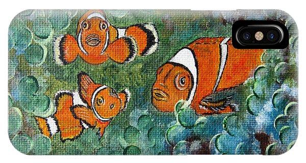 Clown Fish Art Original Tropical Painting IPhone Case