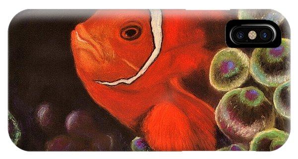 Clown Fish In Hiding  Pastel IPhone Case