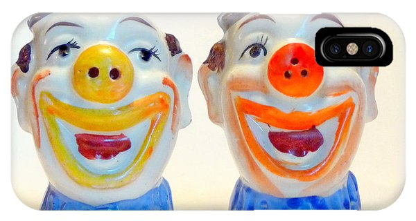 Vintage Clown Salt And Pepper Shakers IPhone Case