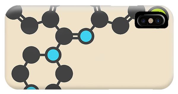 Clozapine Antipsychotic Drug Molecule IPhone Case