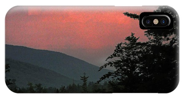 Clucks West Ossipee Mountain Sundown IPhone Case