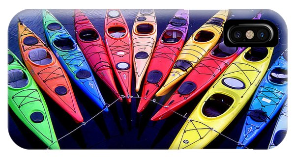 Clustered Kayaks IPhone Case