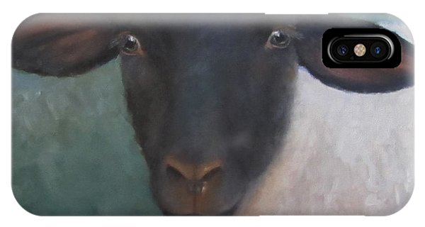 Clyde - A Suffolk Lamb Painting IPhone Case