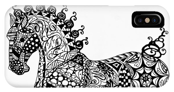 Clydesdale Foal - Zentangle IPhone Case
