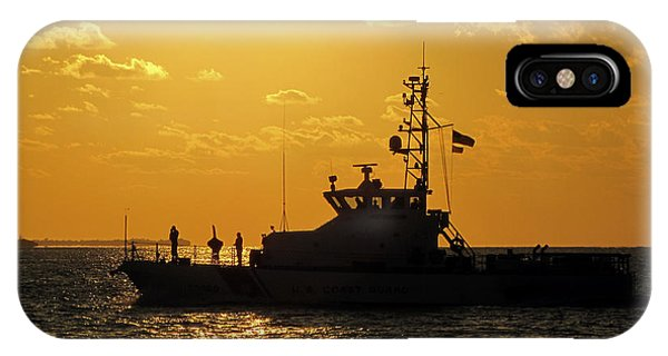 Coast Guard In Paradise - Key West IPhone Case