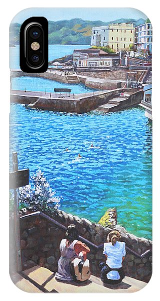 Coast Of Plymouth City Uk IPhone Case