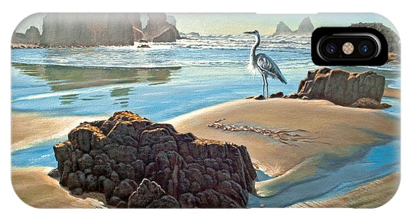 Heron iPhone Case - Coast With Great Blue Heron by Paul Krapf