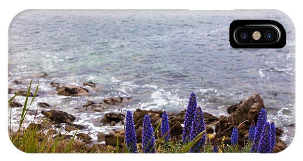 Coastal Cliff Flowers IPhone Case