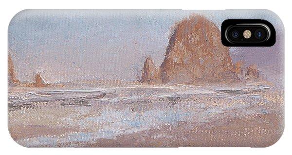 Coastal Escape  Cannon Beach Oregon And Haystack Rock  IPhone Case