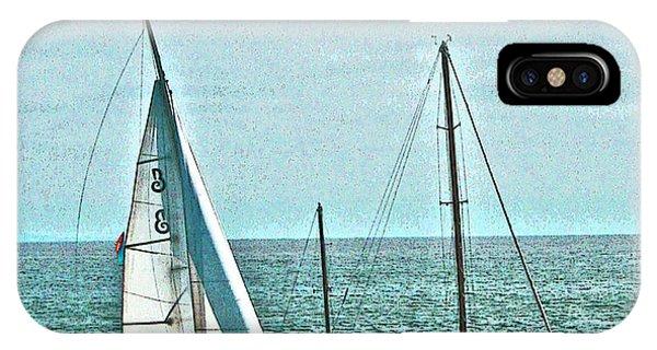 Coastal Sail Boats IPhone Case