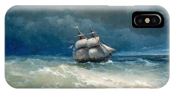 iPhone Case - Coastal Scene With Stormy Waters by Viktor Birkus