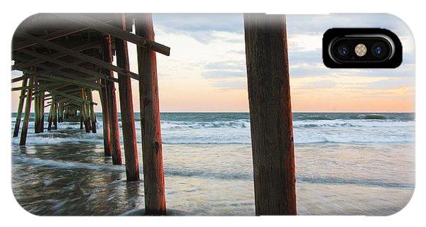 Coastal Sunset At Oceanana Fishing Pier IPhone Case