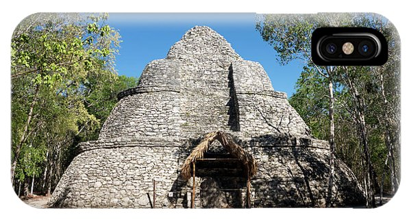 Maya iPhone Case - Coba Mayan Pyramid by Daniel Sambraus/science Photo Library