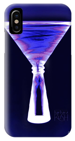 Cobalt With Purple Fringe Martini IPhone Case