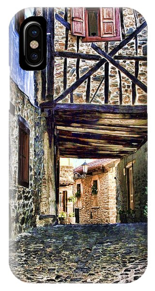 Cobble Streets Of Potes Spain By Diana Sainz IPhone Case