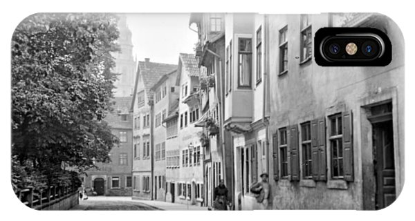Coburg Germany Street Scene 1903 IPhone Case