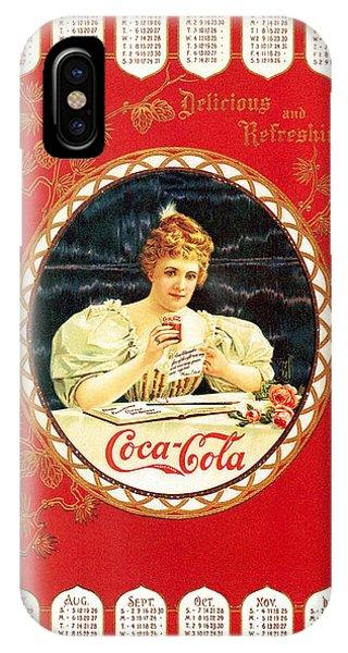 Coca - Cola Vintage Poster Calendar IPhone Case