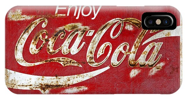Coca Cola Vintage Rusty Sign IPhone Case