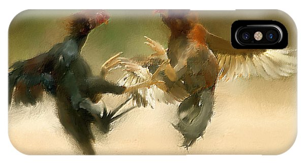 Cockfight IPhone Case