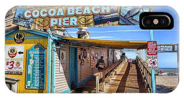 Cocoa Beach Pier In Florida IPhone Case