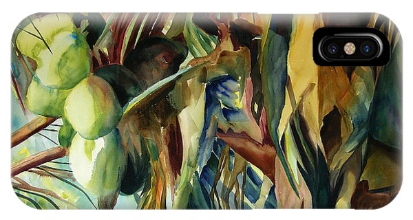 Coconuts And Palm Fronds 5-16-11 Julianne Felton IPhone Case