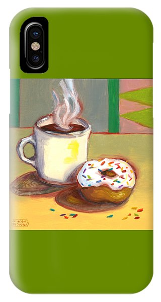 Coffee And Donut IPhone Case