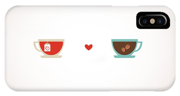 Couple iPhone Case - Coffee And Tea In Love Cups by Jennylipets