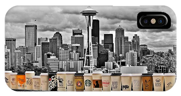Seattle Skyline iPhone Case - Coffee Capital by Benjamin Yeager